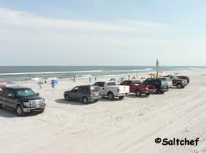 drive on beach next to seaside park