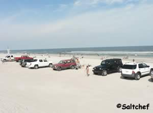 beach at seaside park in fernandina beach