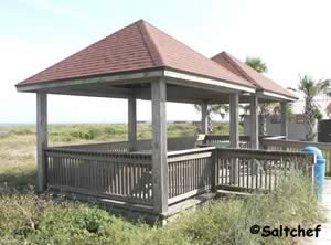 small pavilions at seaside park