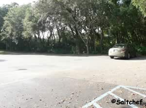 paved parking lot at southend walkover