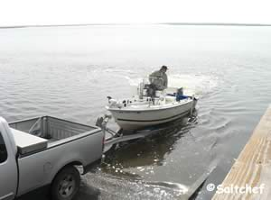 loading boat at goffinsville boat ramp can be tricky