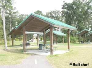 pavilions with grills at goffinsville park