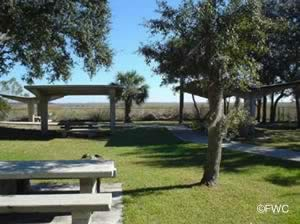 picnic pavilions and tables at holly point park fernandina beach florida