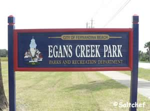egans park fernandina beach sign