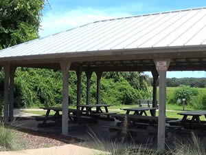 picnic pavilion at egans creek