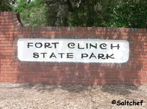 entrance to fort clinch state park