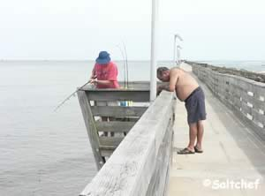 drop a line in the saltwater at fort clinch