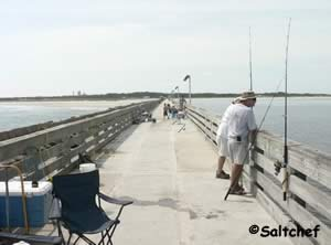 at the end of fort clinch pier