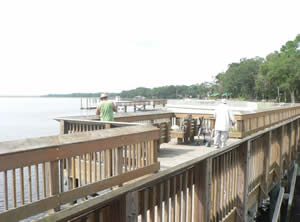 fishing pier at goffinsville