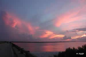 sunset on Amelia Island State Park