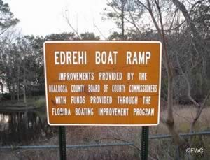 fish the choctawhatchee bay, boggy bayou and rocky bayou from edrehi ramp