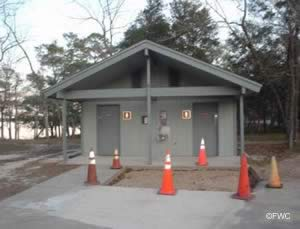 restrooms at fred gannon rocky bayou state park boat ramp