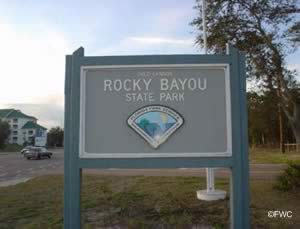 sign at rocky bayou state park