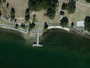 fort walton landing park fishing dock