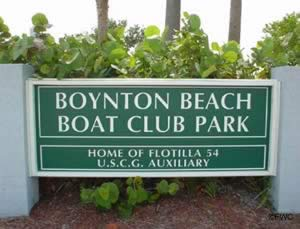 boat club park sign boyton beach