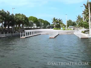 boat ramp at jim barry light harbor park in riviera beach