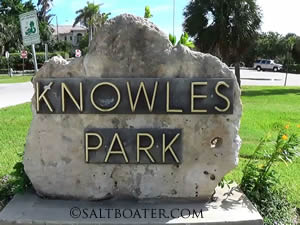 knowles park boat ramp entrance sign
