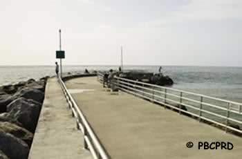 jupiter jetty pier ocean fishing