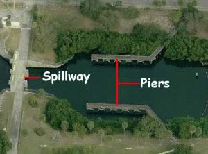 spillway park fishing piers