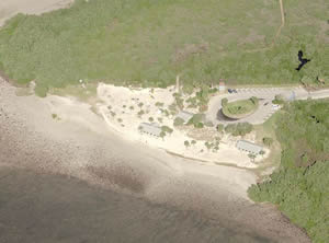 aerial of robery rees beach new port richey