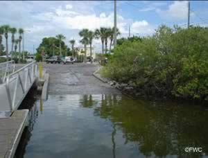 saltwater boat ramp in hudson florida with easy access to gulf of mexico