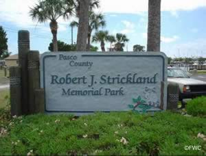 entrance sign to strickland ramp