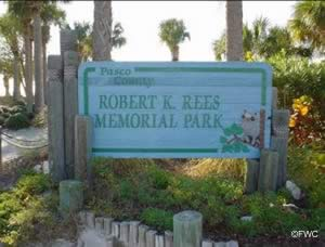 entrance sign at robert rees memorial park pasco county florida
