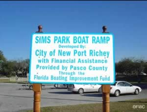 sign at sims park pasco county florida