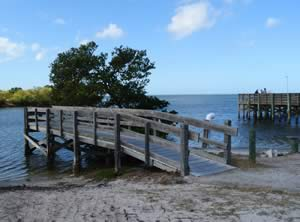 small fishing pier on anclote river