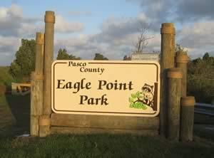 entrance sign to eagle point park in beacon square florida