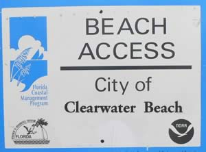 clearwater beach accesses
