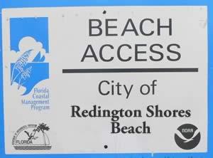 redington shores beach accesses
