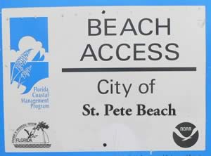 st pete beach accesses