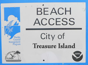 treasure island beach accesses