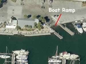 gulfport city marina aerial view of ramp