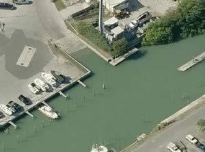 aerial view of madeira beach marina ramp