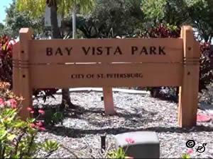 entrance sign bay vista park st petersburg fl