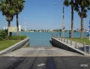 boat ramp on clearwater beach florida
