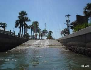 approach to clearwater beach boat ramp