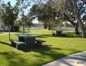 picnic area at the craig park boat ramp