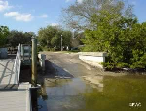 boat ramp at crisp park pinellas county florida