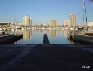 Boat launch at demens landing florida