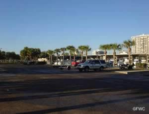 boat trailer parking at demens landing st petersburg fl