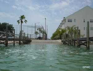 water approach to the egan park boat ramp st pete beach