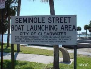 entrance to seminole street ramp in clearwater