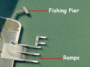 aerial view of belleair causeway fishing pier