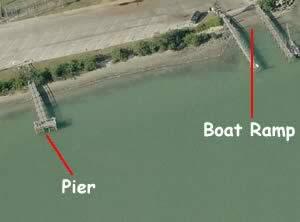 aerial view of egan park fishing pier fl
