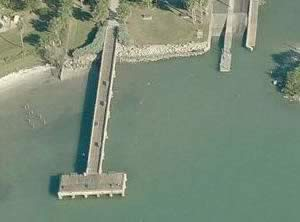 aerial view of jungle prada fishing pier
