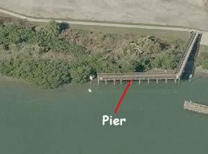 park boulevard pier from air
