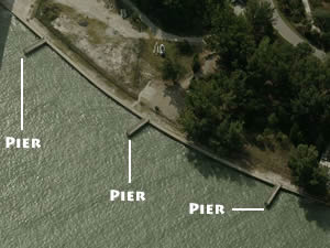 fishing piers at sand key park in clearwater